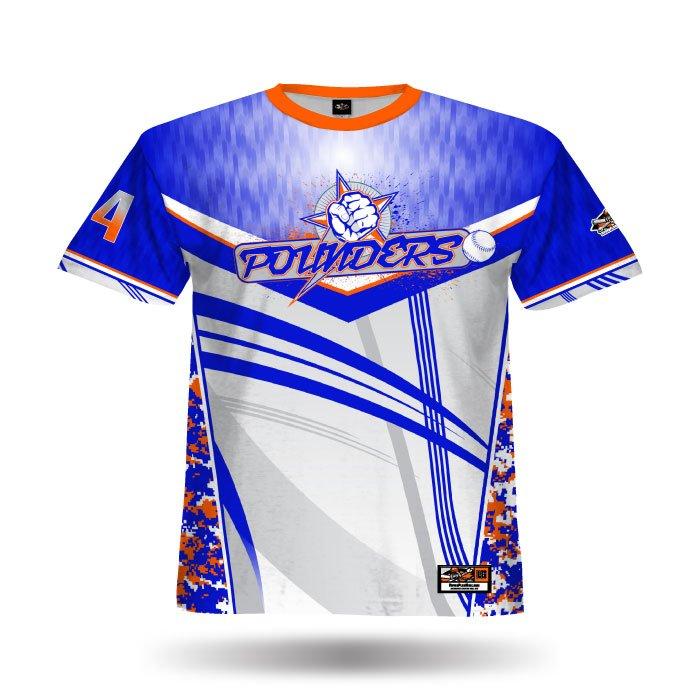 Digi Camo 4 Royal & Orange Full Dye Jersey Front