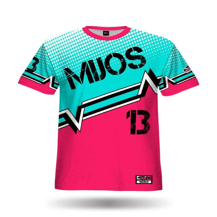 Digi Camo 5 Dark Pink & Columbia Blue Full Dye Jersey