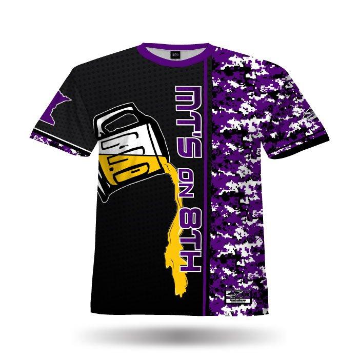 Digi Camo 6 Purple & Black Full Dye Jersey Front