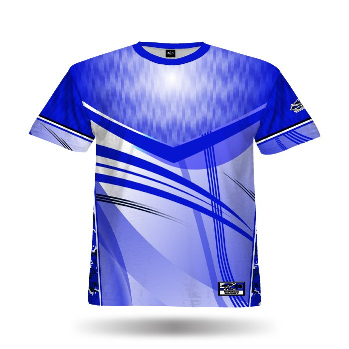 Digi Camo 4 Royal Full Dye Jersey Front