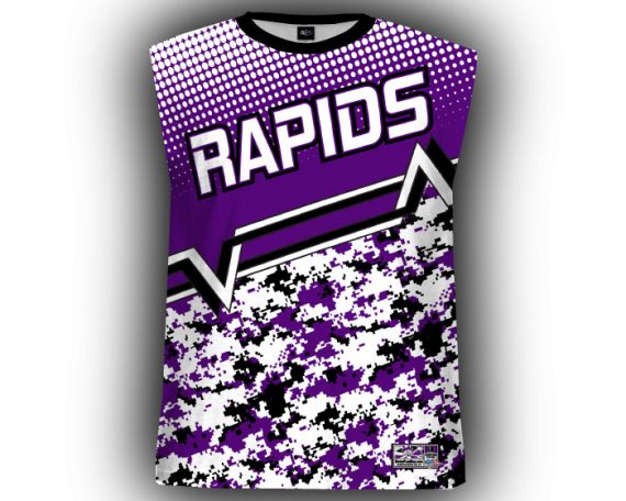 Digi Camo Purple & Black Sleeveless Full Dye Jersey