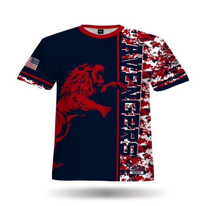 DigiCamo VI Red & Navy Full Dye Jersey