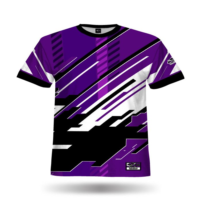 Digital Purple & Black Full Dye Jersey Blank