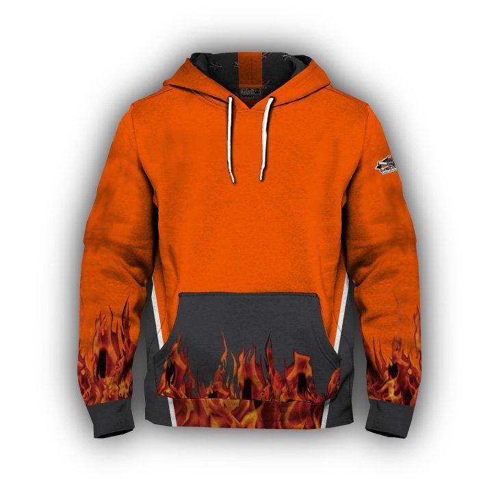 Fireball Blank Full Dye Hoodie Front