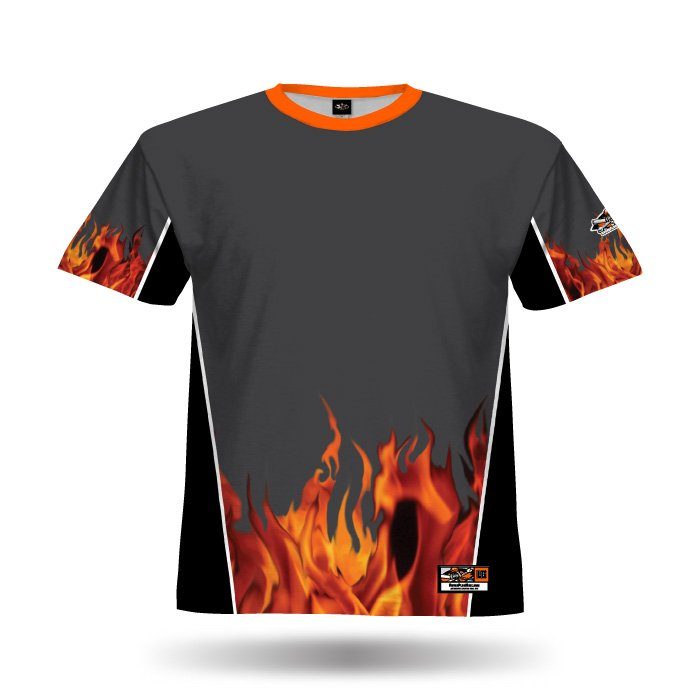 Fireball Steel Grey & Black Full Dye Jersey Blank Front