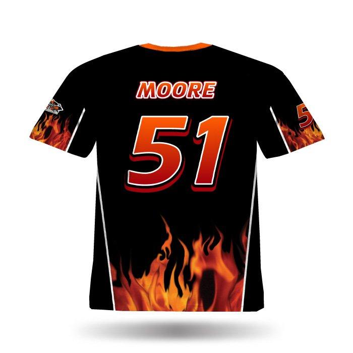 Fireball Black & Orange Full Dye Jersey Back