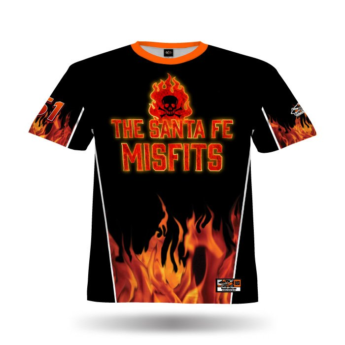 Fireball Black & Orange Full Dye Jersey Front