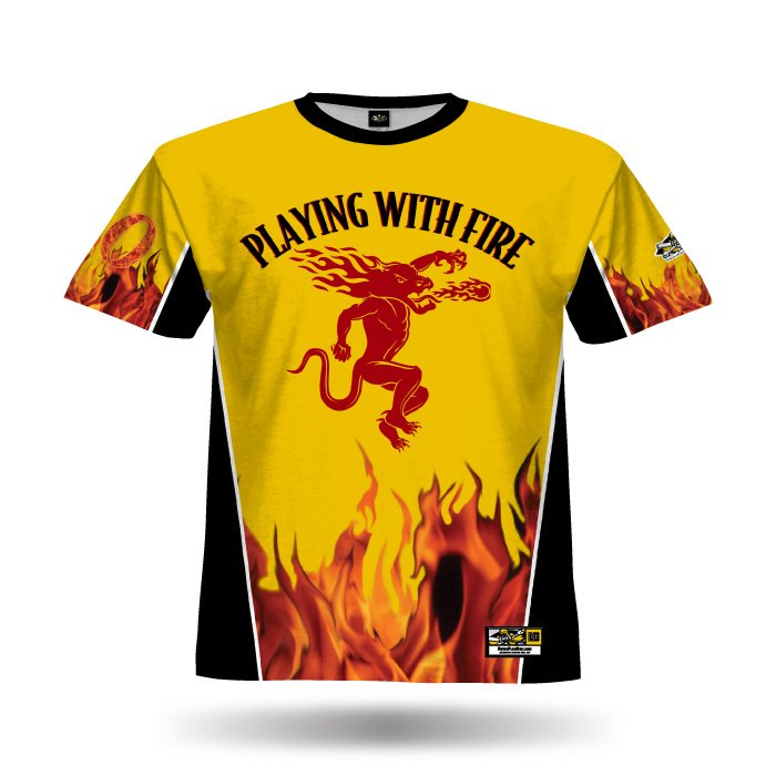 Fireball Athletic Gold & Black Full Dye Jersey Front