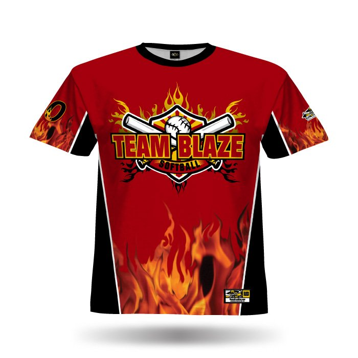 Flame Red & Black Full Dye Jersey Front