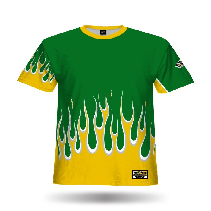 Flame Dark Green & Ath Gold Full Dye Jersey Front