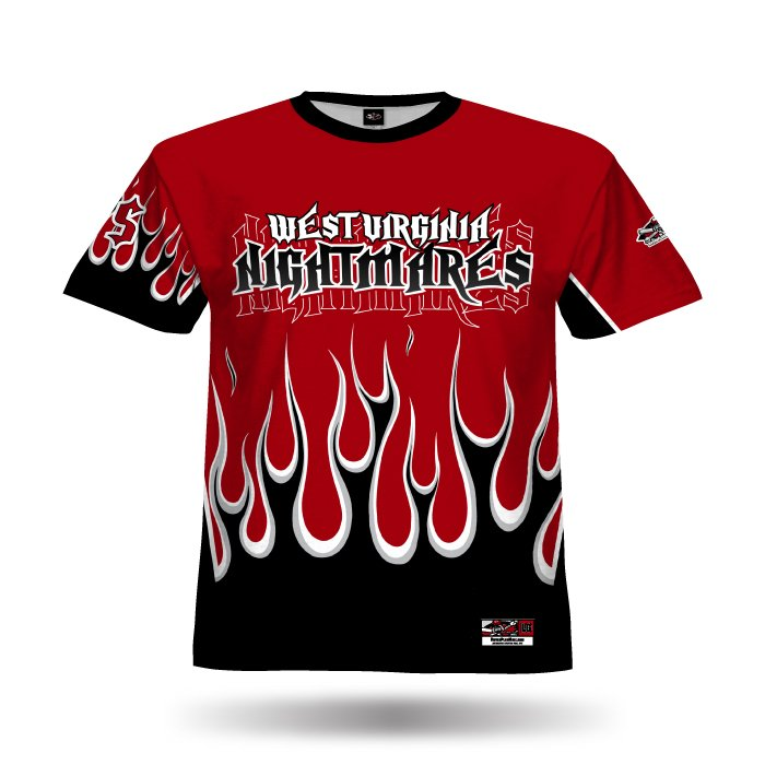 Flame Red & Black Full Dye Jersey