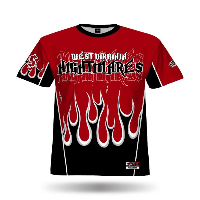 Flame Black & Red Full Dye Jersey Front
