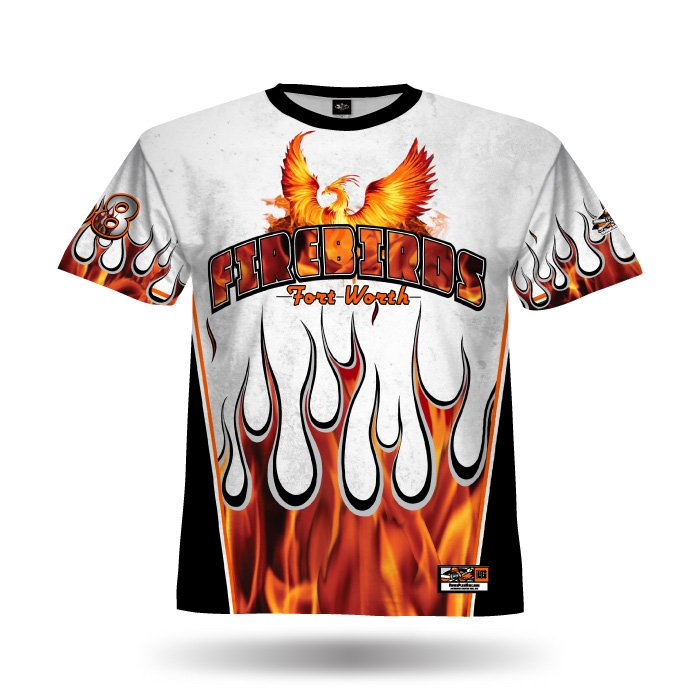 Flame II White & Orange Full Dye Jersey Front