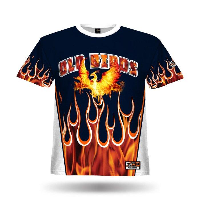 Flame Navy & Orange Full Dye Jersey Front