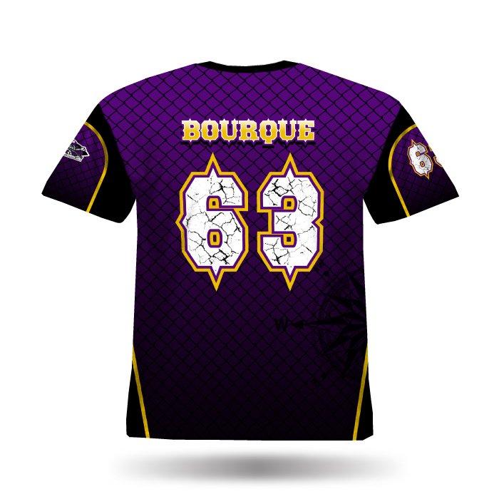 Furious Black & Purple Full Dye Jersey
