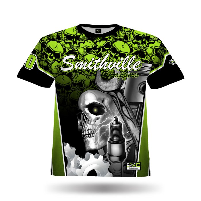 Gearhead Lime & Black Full Dye Jersey