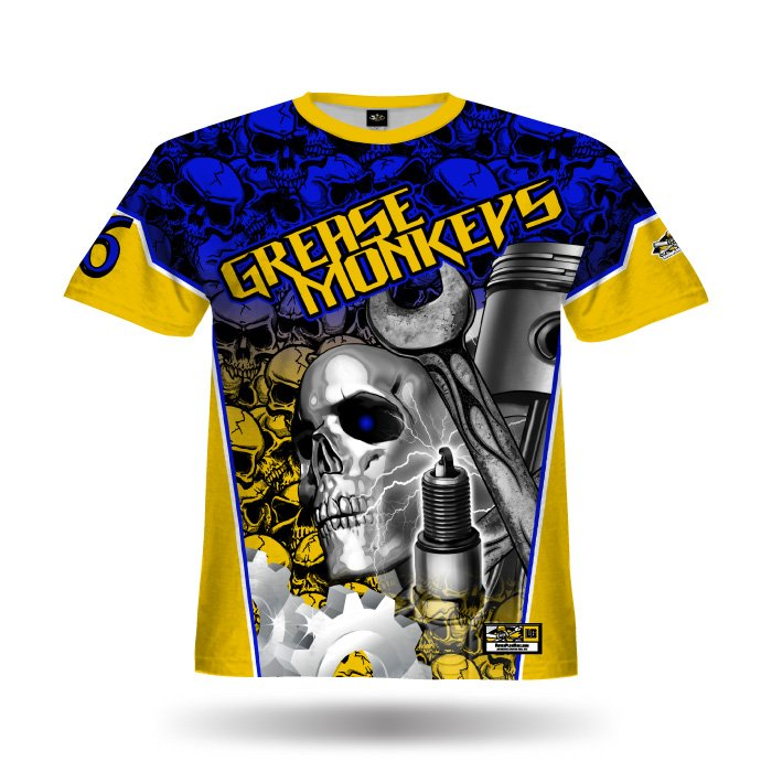Gearhead Royal & Athletic Gold Full Dye Jersey Front