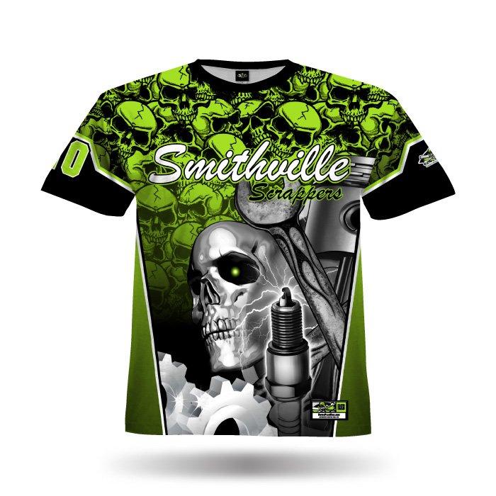 Gearhead Lime & Black Full Dye Jersey Front