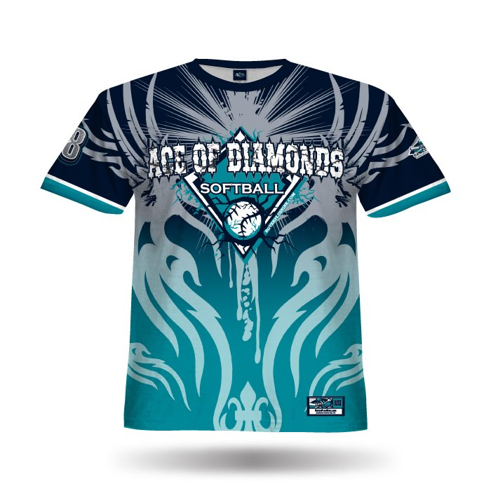 Ghost Teal & Navy Full Dye Jersey