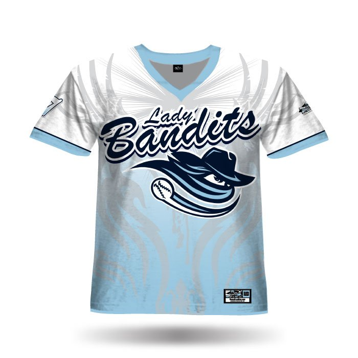 Ghost White & Columbia Blue Full Dye Jersey Front