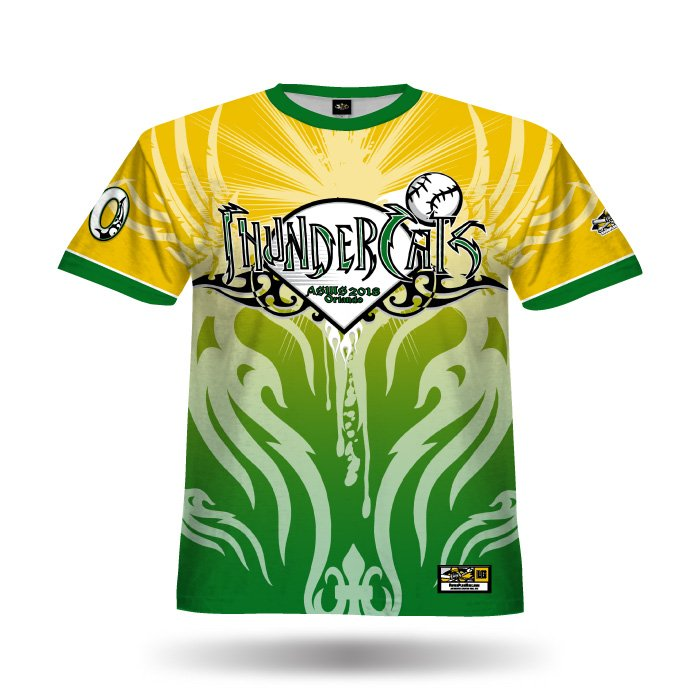 Ghost Dark Green & Athletic Gold Full Dye Jersey Front