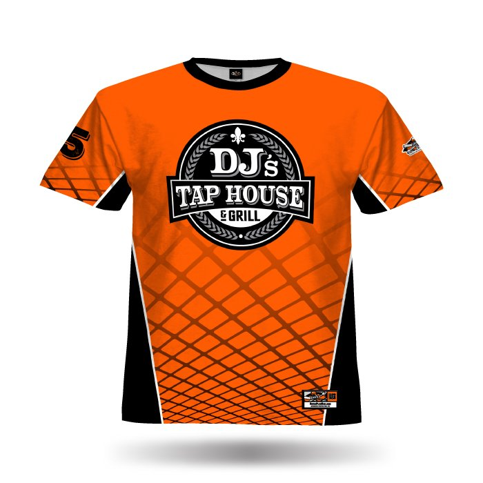 Gridlock Orange & Black Full Dye Jersey