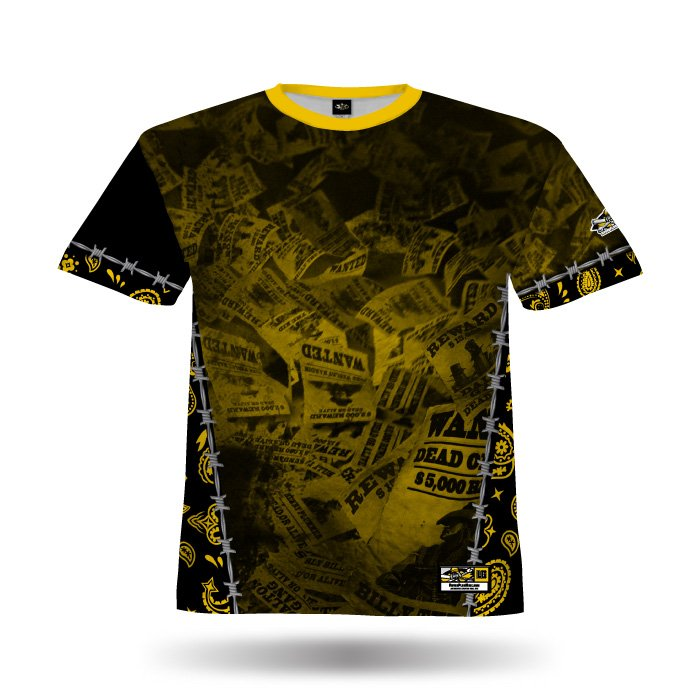 Gunslingers Ath Gold Full Dye Jersey Front