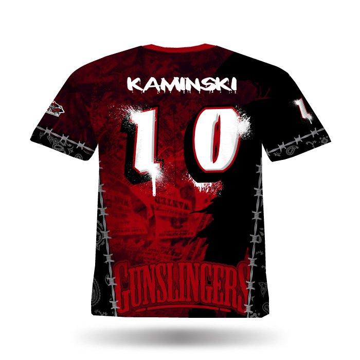Gunslingers Red Full Dye Jersey Back