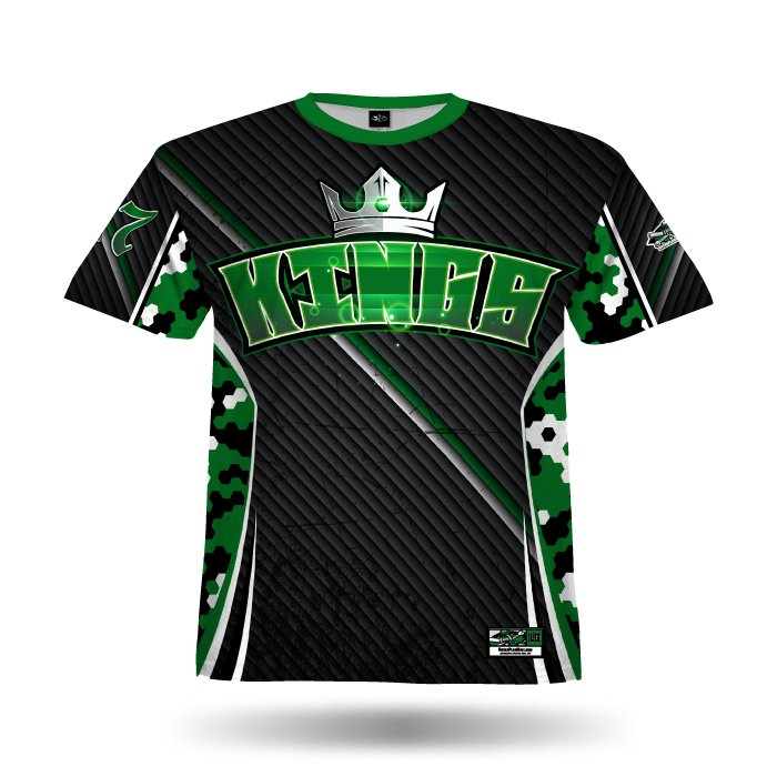 HexCamo II Dark Green & Black Full Dye Jersey