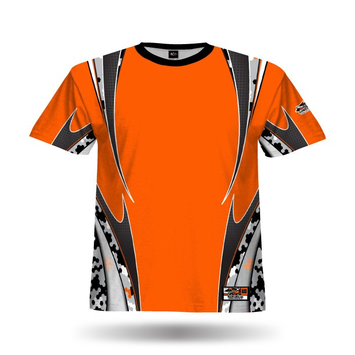Hex Camo III Orange Full Dye Jersey Blank Front