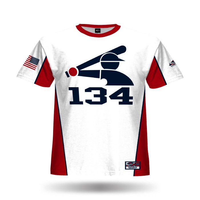 Jammer White & Red Full Dye Jersey Front