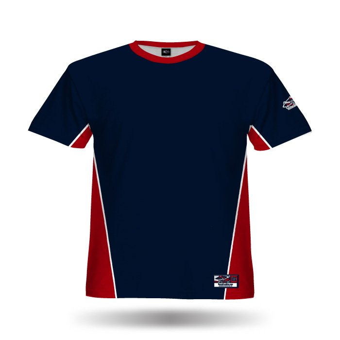 Jammer Navy & red Full Dye Jersey Blank Front