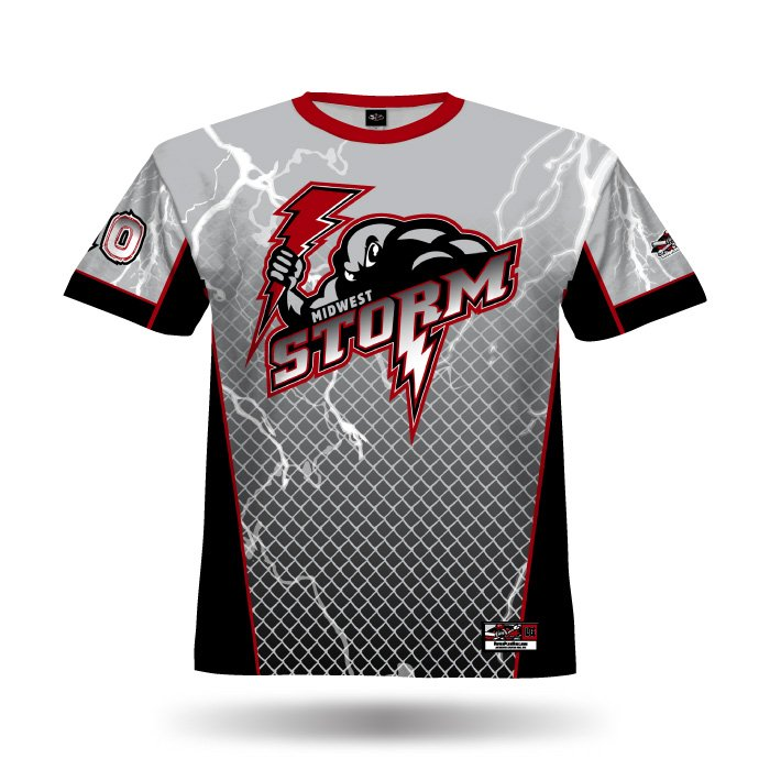 Lightning Grey & Black Full Dye Jersey Front