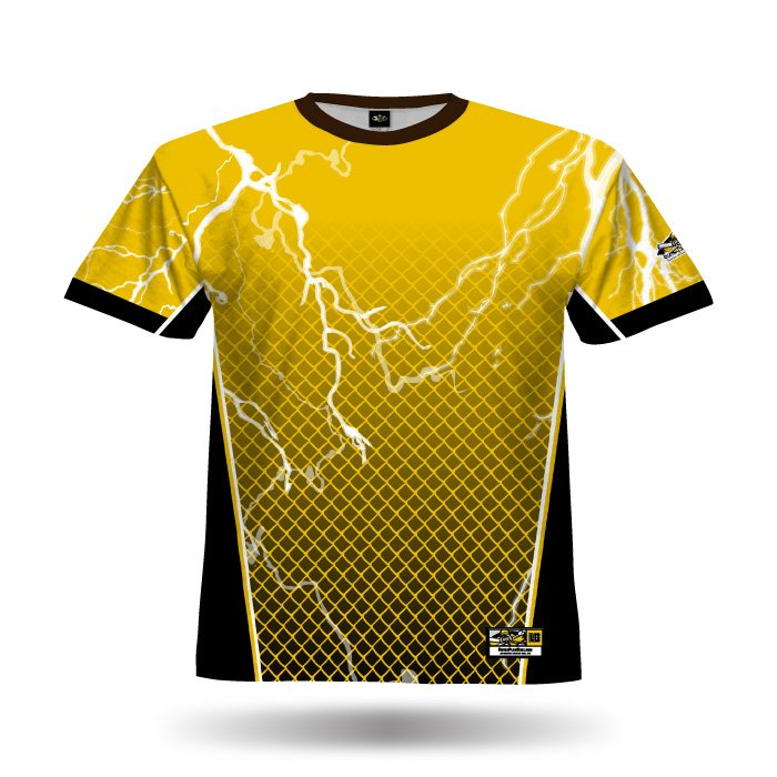 Lightning Yellow & Black Full Dye Jersey