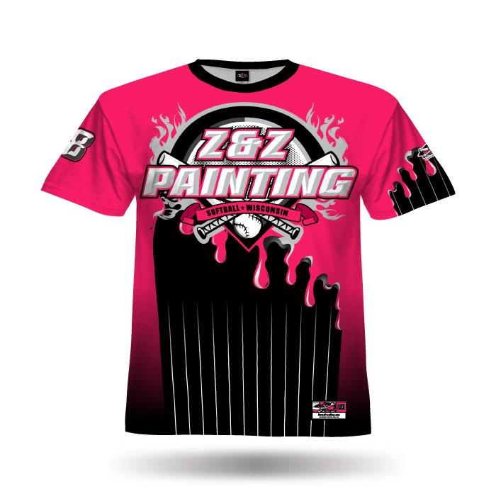 Molten Pink & Black Full Dye Jersey