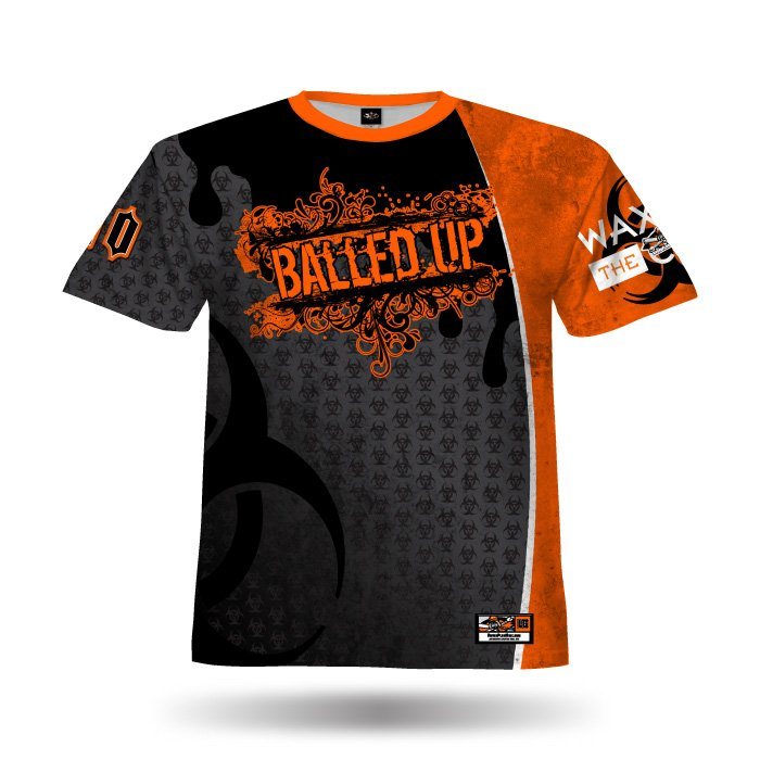 Mudslinger Steel Grey & Orange Full Dye Jersey Front