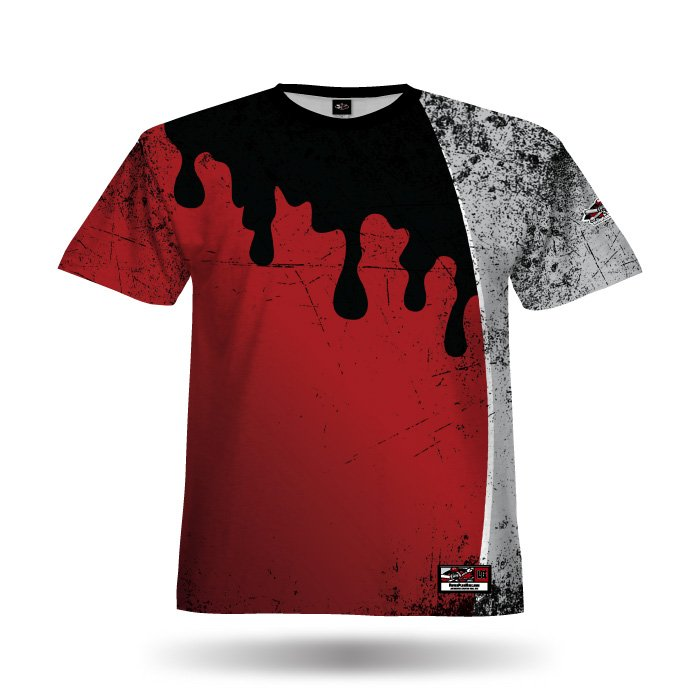 Mudslinger Red & Grey Full Dye Jersey Blank Front