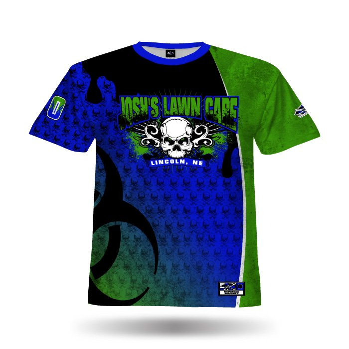 Mudslinger Royal & Kelly Green Full Dye Jersey Front