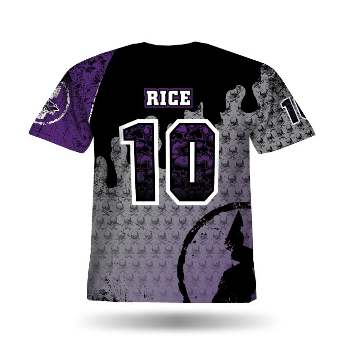 Mudslingers Purple & Black Full Dye Jersey