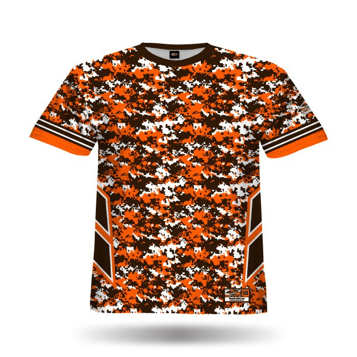 Navy Strong Orange & Brown Full Dye Jersey Blank Front