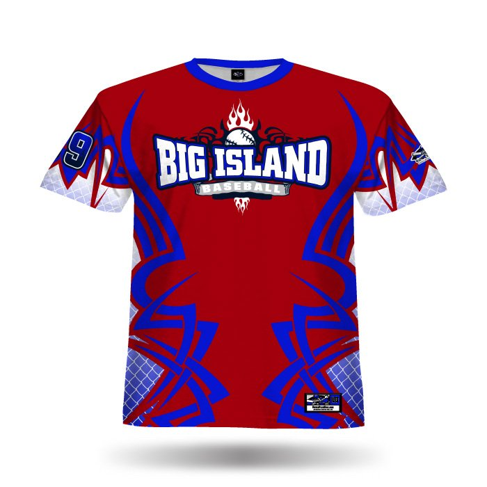 New Tribal Red & Royal Full Dye Jersey Front
