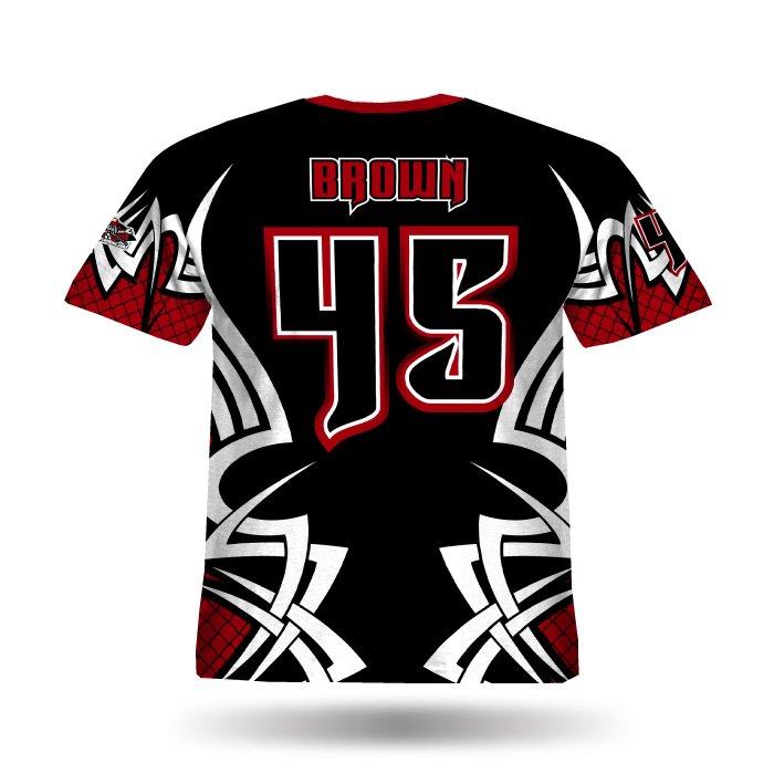 New Tribal Black & Red Full Dye Jersey