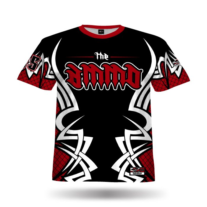 New Tribal Black & Red Full Dye Jersey