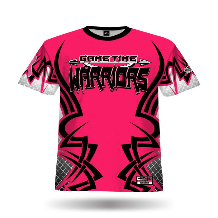 New Tribal Dark Pink & Black Full Dye Jersey Front