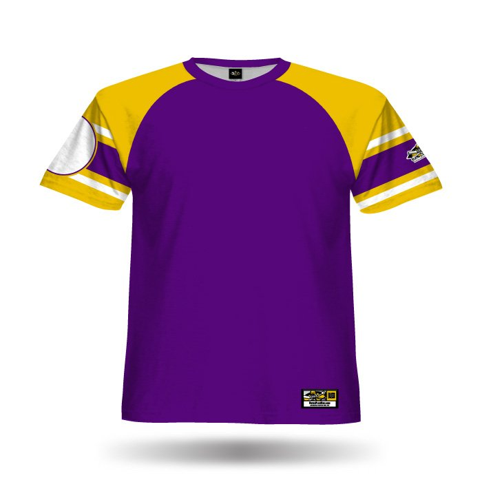 Old School Purple & Athletic Gold Full Dye Jersey Front