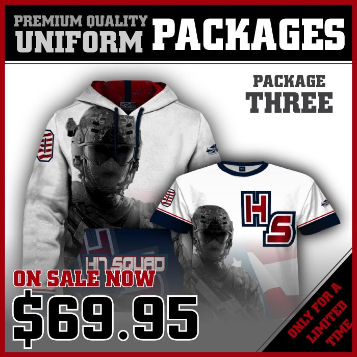 Team Package Three - Full Dye Jersey & Full Dye Hoodie- $69.95