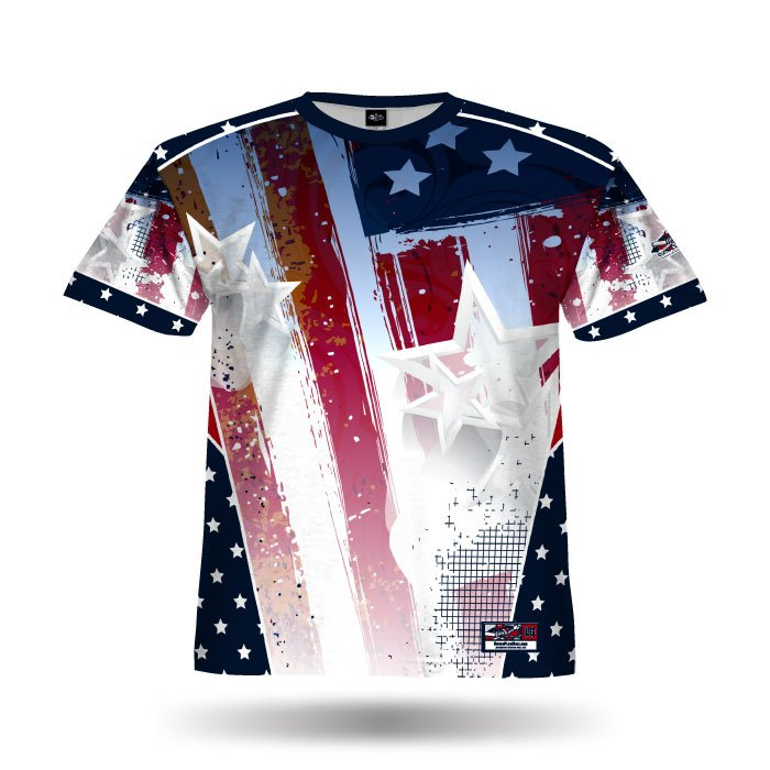 Patriotic Eagle Full Dye Jersey Blank Front