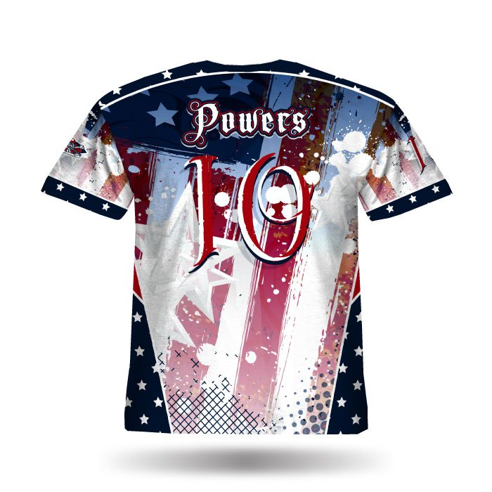 Patriotic Navy & Red Full Dye Jersey Back