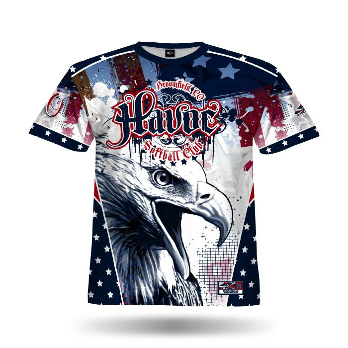 Patriotic Navy & Red Full Dye Jersey Front