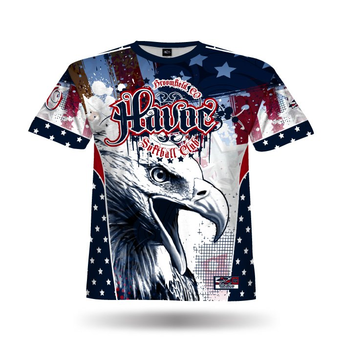 Patriotic Eagle Navy & Red Full Dye Jersey